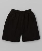 Flap Happy Black Brushed Twill Shorts - Infant Toddler & Boys