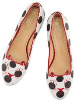 Charlotte Olympia Women's Polka Dot Kitty Flat
