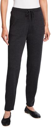 Eileen Fisher Petite Wool Jersey Jogger Pants