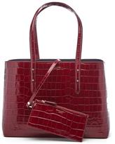 Aspinal of London Women's Regent Croc Tote Bag Bordeaux