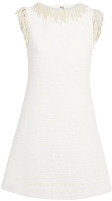 Giambattista Valli Tweed Bead-Trim Mini Dress