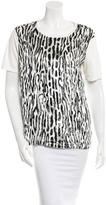 Giambattista Valli Leopard Patterned Short Sleeve Top