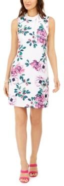 Jessica Howard Petite Tie-Neck Floral Sheath Dress