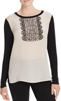 Max Mara Pleiadi Silk-Panel Jersey Top