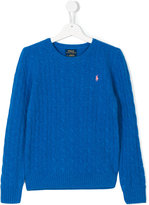 Ralph Lauren teen logo embroidered knitted pullover