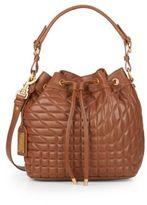 Badgley Mischka Clarissa Quilted Leather Bucket Bag