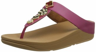 FitFlop Women's Fino Toe Post-Textured Circles Open Sandals