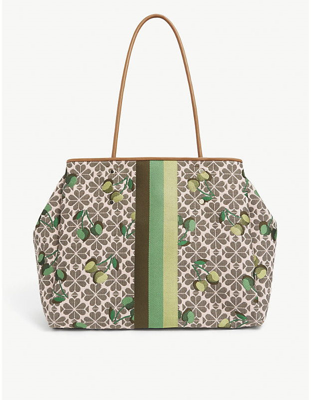 Kate Spade Spade Flower cherry-embroidered jacquard tote