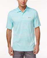 Greg Norman For Tasso Elba Men's Heathered Striped Performance Sun Protection Golf Polo