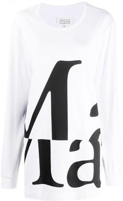 Maison Margiela logo print long-sleeve T-shirt