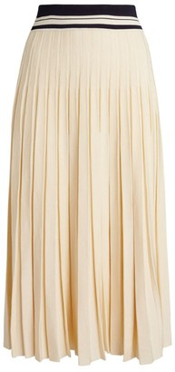 Tory Burch Pleated Knit Midi Skirt