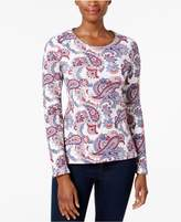 Charter Club Cotton Printed Top, Created for Macy's