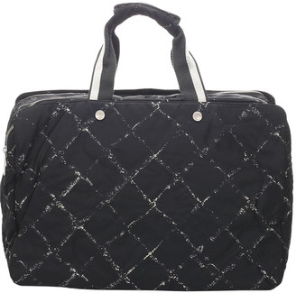 Chanel Black Nylon Old Travel Line Bag