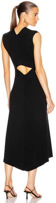 Victoria Beckham Open Back Flare Midi Dress in Black | FWRD