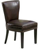 Best Selling Jackie Leather Accent Dining Chair, Brown