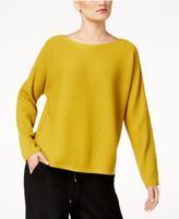 Eileen Fisher Wool Boat-Neck Sweater, Regular & Petite
