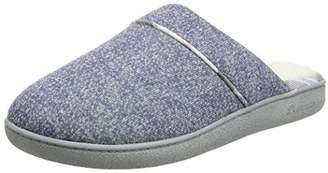 Dearfoams Women's Closed Toe Scuff Open Back Slippers, Beige (Oatmeal Heather), L 40/41 EU