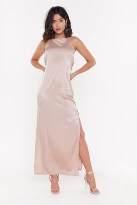 Nasty Gal Womens Always Be My Baby Satin Maxi Dress - Pink - 12