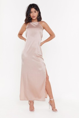 Nasty Gal Womens Always Be My Baby Satin Maxi Dress - Rose
