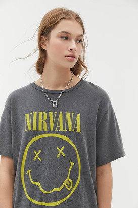 Urban Outfitters Nirvana Smiley Face Tee