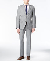 Tommy Hilfiger Men's Modern-Fit Light Gray Sharkskin Suit