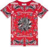 Philipp Plein Paisley Tiger T-Shirt, Red, 4 Years