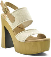 Sbicca Natural Annabella Leather Platform Sandal