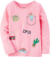 Carter's Girls Long Sleeve Pink Patch-Baby