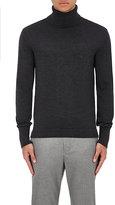 Officine Generale Men's Merino Wool Turtleneck Sweater-DARK GREY