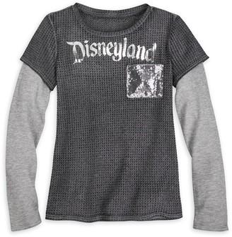 Disney Disneyland Sequin Layered T-Shirt for Women