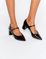 Carvela Anthony Mary Jane Point Mid Heeled Shoes