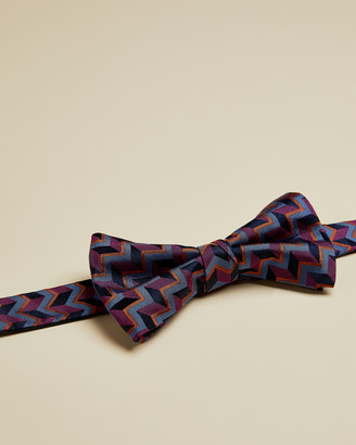 Ted Baker ALIBOW Geo print silk bow tie