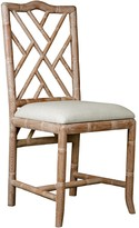 The Well Appointed House Bungalow 5 Hampton Faux Bamboo Fretwork Side Chair in Natural
