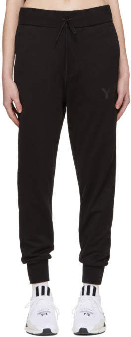 Y-3 Y 3 Black Classic Logo Lounge Pants