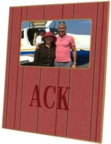 The Well Appointed House Nantucket Red Chambray Stripe Decoupage Picture Frame-Can Be Personalized