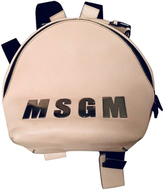 MSGM Pink Leather Backpacks