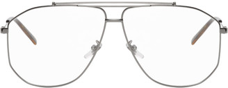 Gucci Gunmetal Aviator Glasses