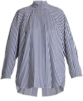 Ellery Treble open-back striped cotton shirt