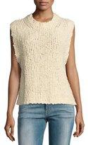 Current/Elliott The Cotton Sweater Vest, Ecru