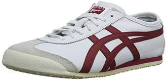 Onitsuka Tiger by Asics Mexico 66, Unisex-Adults' Low-Top Trainers, White (White/Burgundy 0125)