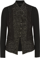 Donna Karan Tweed and stretch-jersey jacket