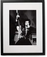 Sonic Editions Framed Jimi Hendrix, San Francisco Print, 17 X 21 - Black