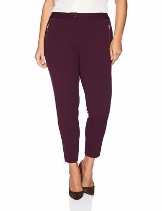 Calvin Klein Women's Size Scuba Crepe Pant with Zippers