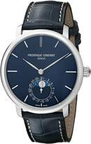 Frederique Constant Men's FC705N4S6 Slim Line Stainless Steel Watch