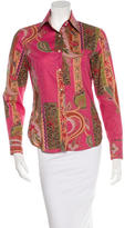 Etro Floral Button-Up Top