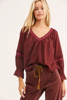 Free People Darcy Eyelet Blouse by Free People, Bittersweet, XS