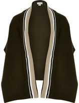 River Island Girls khaki knit tipped cape