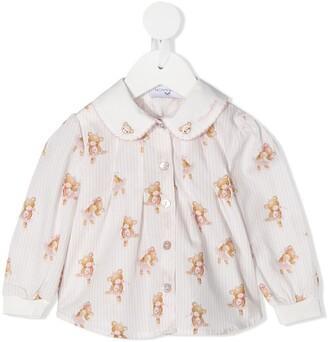 MonnaLisa Teddy Bear print cotton shirt