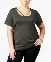 Style&Co. Style & Co. Plus Size Cutout-Neck Top, Only at Macy's