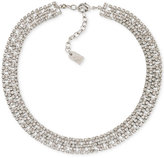 Lauren Ralph Lauren Silver-Tone Crystal Pavé Choker Necklace